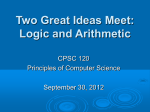 Logic From Switches - HWS Department of Mathematics and