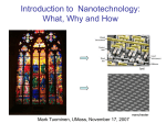 Nanotechnology overview by Mark Tuominen