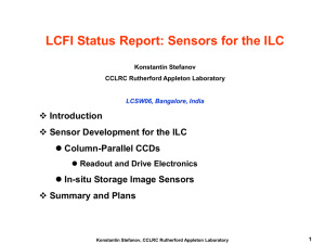Konstantin Stefanov`s talk on LCFI at LCWS 2006