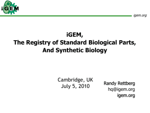 Cambridge Presentation July 2010 - Registry part