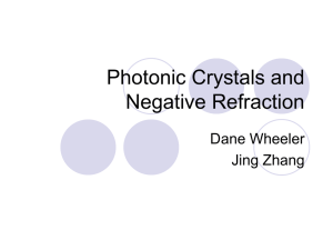 Photonic Crystals and Negative Refraction