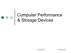 Computer Performance Storage Devices & Size
