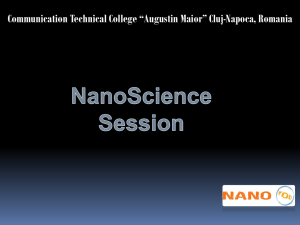 Nano Applications – Presentation ppt