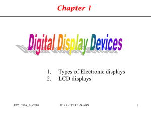 Chapter 1 Liquid Crystal Display Monitor