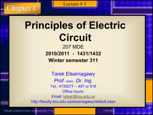 Principles of Electric Circuit