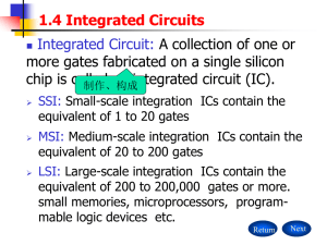 1.4 Integrated Circuits