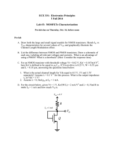 ECE 331:  Electronics Principles I Fall 2014