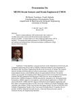 Presentation On MEMS Strain Sensors and Strain Engineered CMOS  Professor