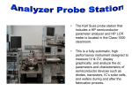 • The Karl Suss probe station that includes a HP semiconductor
