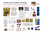 Thin film process simulation and design Chemical & Biomolecular Engineering, ISR