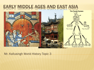 topic 8 Early Middle Ages and East Asia
