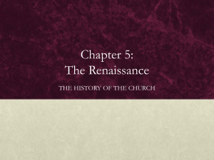 Chapter 5: The Renaissance - Midwest Theological Forum