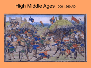 High Middle Ages Part II clashing nations