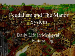 Feudalism and The Manor System - Options