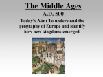 The Middle Ages, The Renaissance, and The Reformation