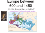 Comparing Post Classical E and W Europe