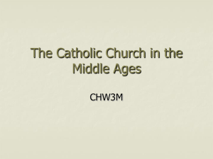 The Catholic Church in the Middle Ages - Hale