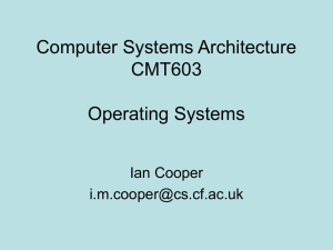 Operating Systems - Cardiff University