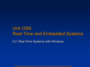 Unit OS 9: Real-Time with Windows