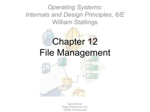 Chapter 12File Management