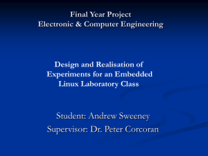 Final Year Project Electronic & Computer Engineering