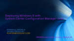 Deploying Windows 8 with System Center Configuration