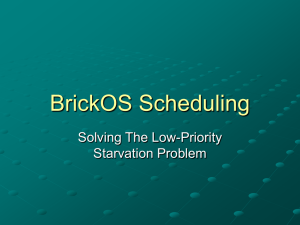 BrickOS Scheduling