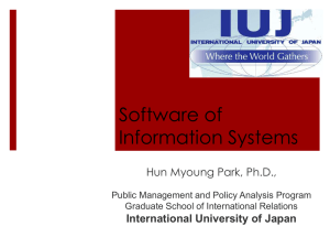 Software - International University of Japan