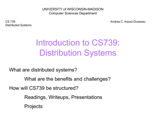 cs739-intro - Computer Sciences User Pages