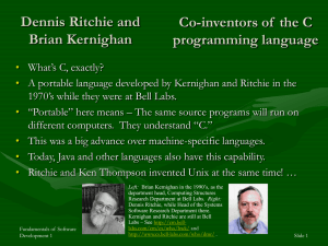 Dennis Ritchie and Brian Kernighan - Rose