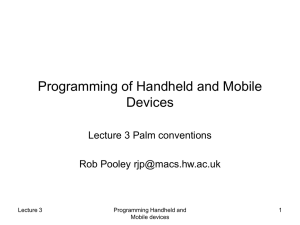 Programming of Handheld and Mobile Devices