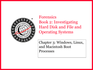 Forensics Book 2: Investigating Hard Disk and File and Operating