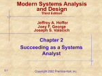 Modern Systems Analysis and Design Joey F. George Jeffrey A