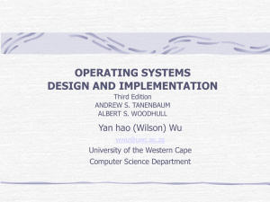 OPERATING SYSTEMS DESIGN AND IMPLEMENTATION Third