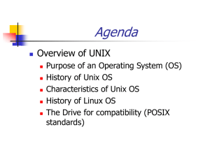 History of Unix OS - Seneca