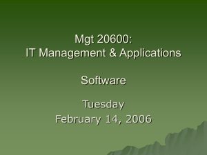 Mgt 20600: IT Management