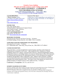 TEXAS A&M UNIVERSITY – COMMERCE CSCI 530 OPERATING SYSTEMS Tentative Course Syllabus