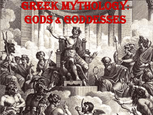 Greek Mythology: Gods & Goddesses