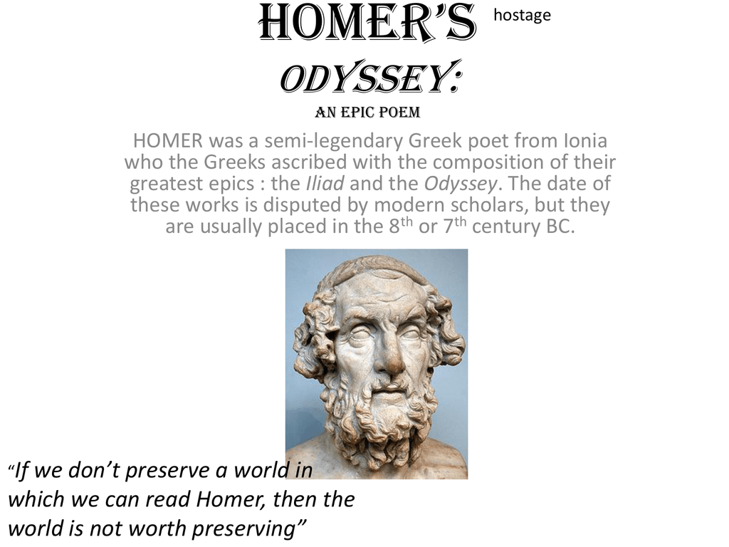why is the odyssey an epic poem