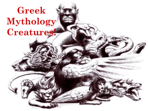 Greek Mythology Monster Powerpoint