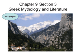 Chapter 9 Section 3 Greek Mythology and Literature