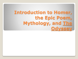 Introduction to Homer, the Epic Poem, Mythology, and