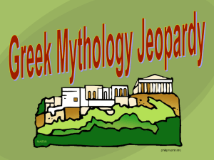greek myth jeopardy