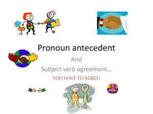 Pronoun antecedent - Clarkstown Central School District
