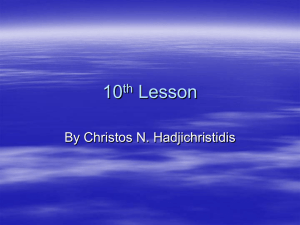 5th Lesson - Christos N. Hadjichristidis
