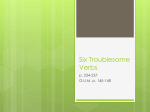 Six Troublesome Verbs - Whitworth