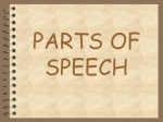 PARTS OF SPEECH - Tech Coach Corner