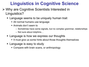 Linguistics in Cognitive Science - Homepages | The University of