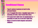 Conditional Clause
