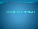 Gerunds and Infinitives - UNAM-AW